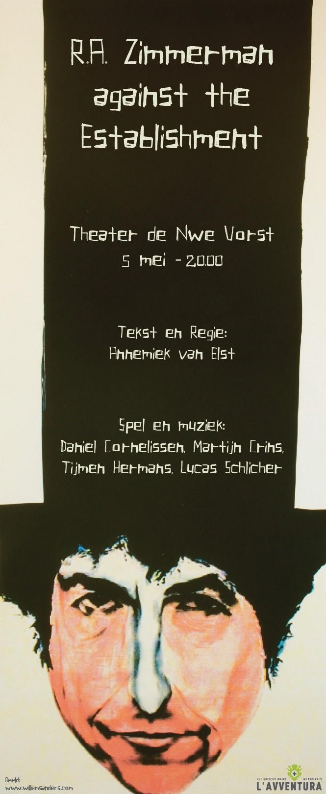 R.A. Zimmerman against the Establishment Written and Directed by Annemiek van Elst For L'Avventura